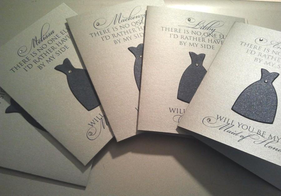 زفاف - Faithful- Will You Be My Bridesmaid Cards
