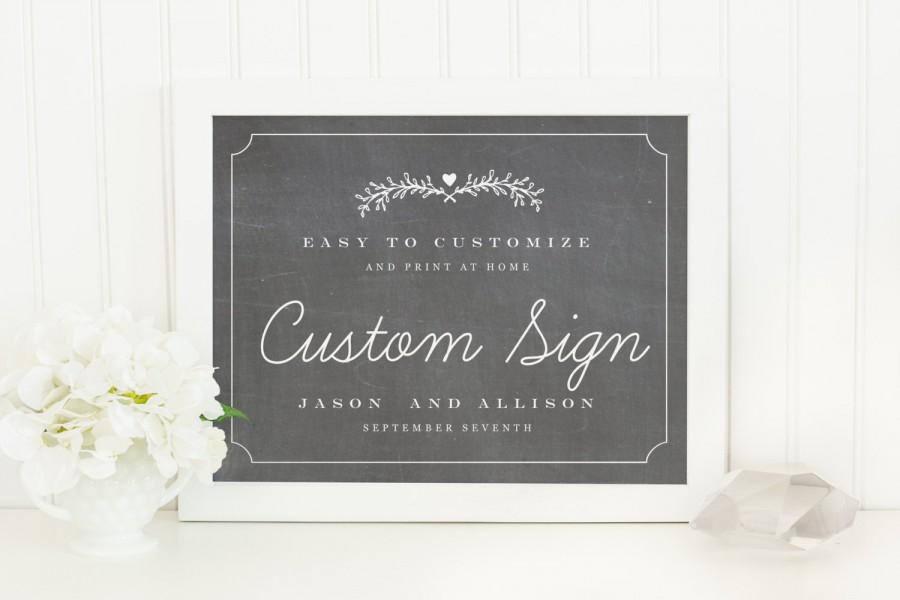 Mariage - Printable Wedding Sign