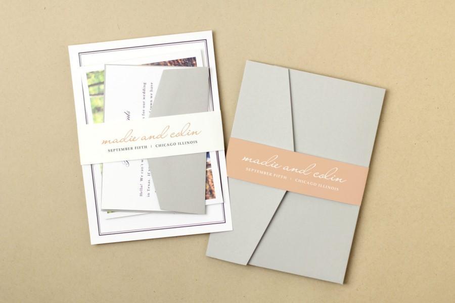 Invitation Printable Wedding Belly Band 2424034 Weddbook
