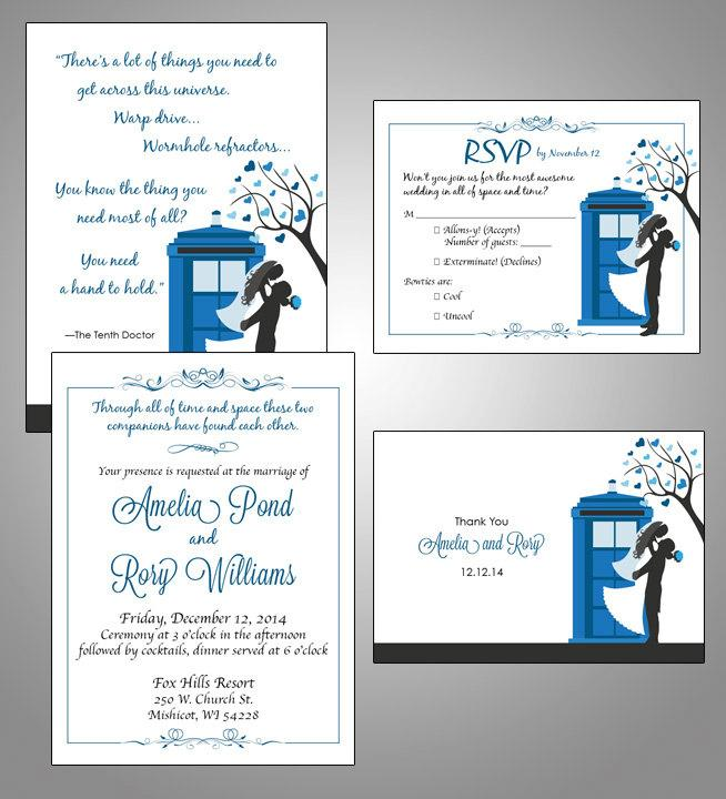 Mariage - Doctor Who Digital TARDIS Wedding Invitation Suite
