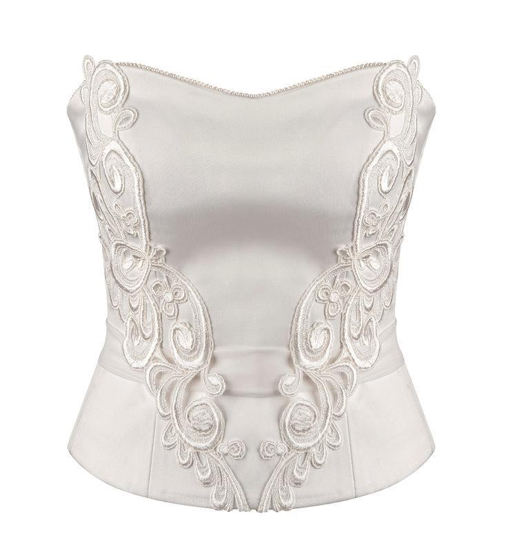 Свадьба - Beatrice light corset wedding dress top