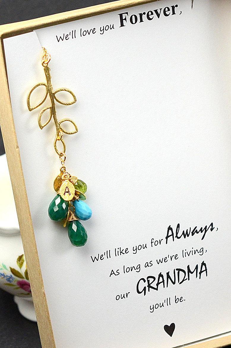 Mariage - Personalized Women's Jewelry Grandma grandmother Personalized Necklace Gift Mother Gift Set Aunt Necklace Sister Jewelry Personalize Wedding