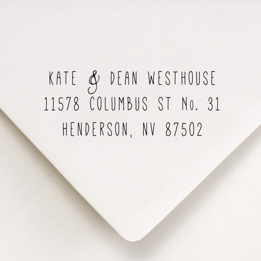 return address stamp skinny font return address for stamping wedding invitations kate and dean design - Return Address On Wedding Invitations