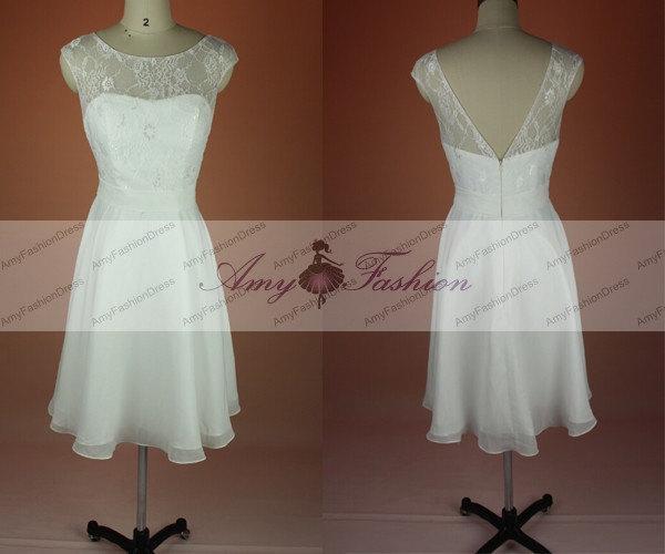 Свадьба - Cheap Bridesmaids Dresses,Bridesmaid Unique Dress,Custom Ivory Bridesmaid Dresses,Junior Bridesmaid Dress Chiffon,Wedding Guest Dress 2015