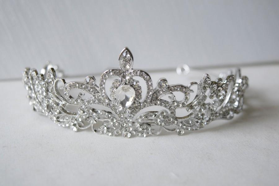 Mariage - Austria Rhinestone Crystal Wedding Bridal Tiara