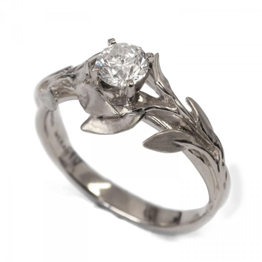 made engagement rings buy by custom leaf wedding to a valeriekstudio design flower ring band