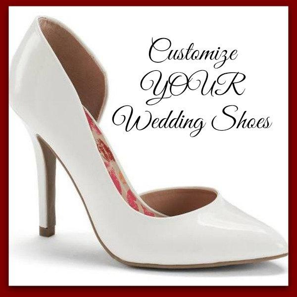 Mariage - Customize YOUR Bridal Wedding Shoes Hand Painted Heels Painted Wedding Pumps Bridal Shoe Custom Painted Shoes Wedding accessory wearable art