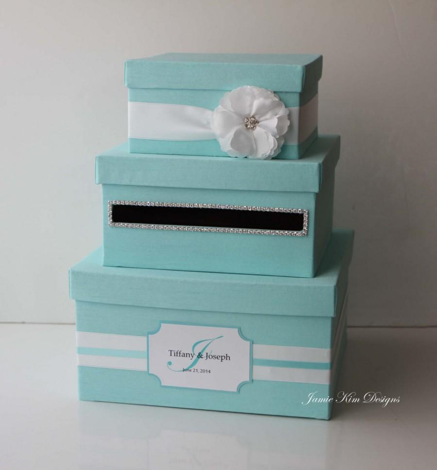 Wedding Card Box Tiffany Box Money Box Custom Made 2424354 – Wedding Money Card Box