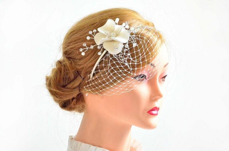 Superb Petite Birdcage Veil With Headpiece Bridal Hair Clip With Mini Short Hairstyles For Black Women Fulllsitofus