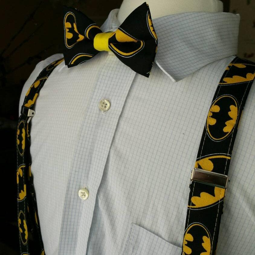 Hochzeit - Batman bow tie and suspenders set for baby,toddlers,kids,teens and adults
