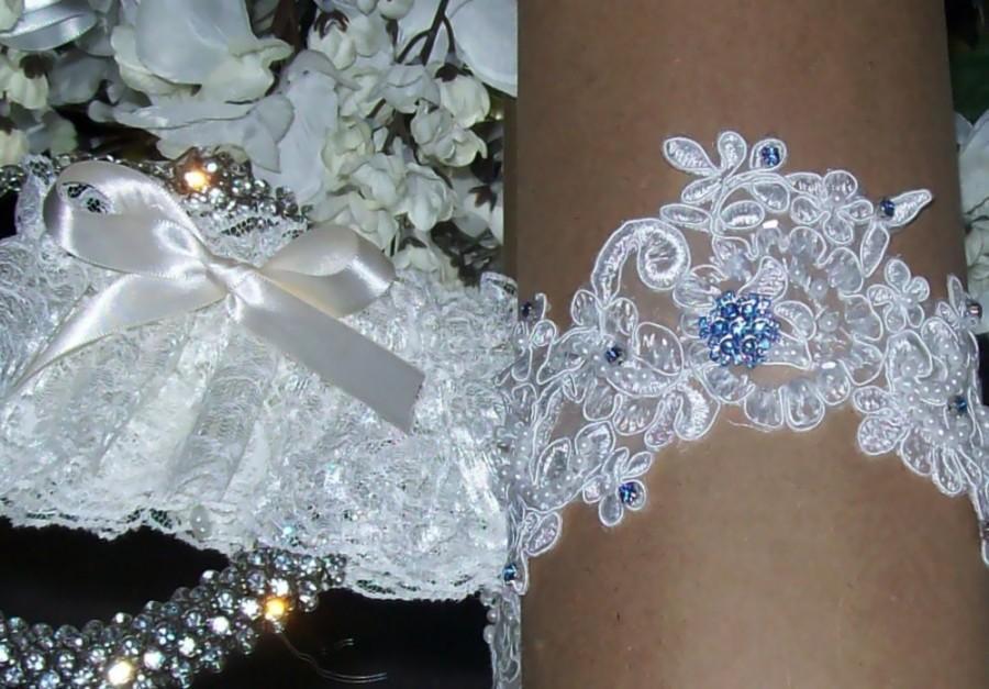 Wedding GarterLace GarterSomething BlueGarter Set Ivory Wedding GarterPlus Size GarterPlus