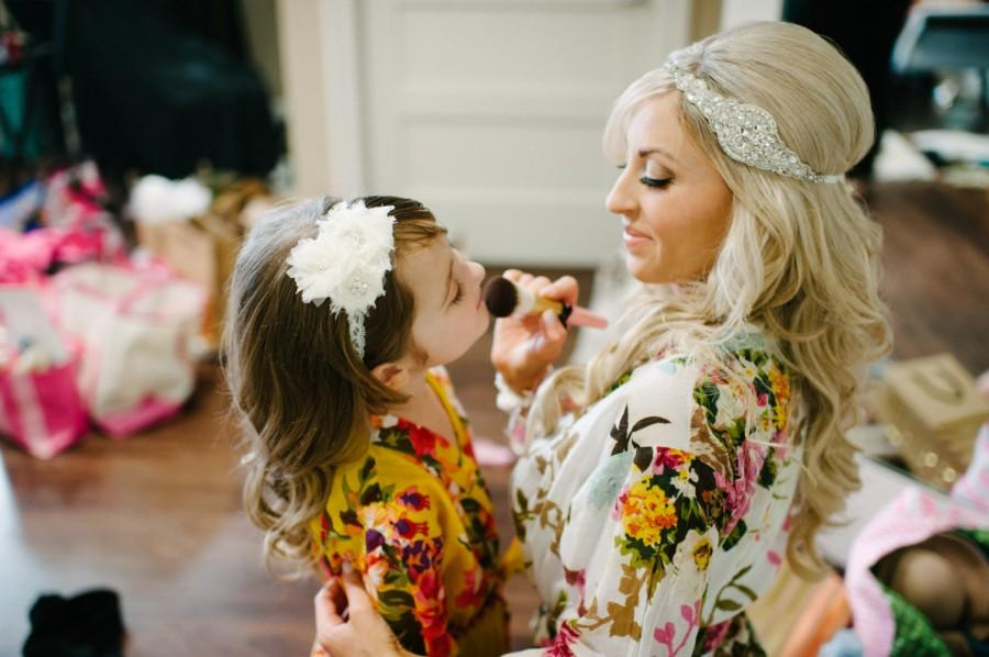 Wedding - Flower girls Robe, For Junior  Child - Kid Bridesmaids, 1-13 year old - Kimono robe for children different colour
