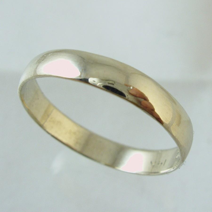 Mariage - Man Wedding Band,14 karat  Recycled gold ring,  Wedding Band, Woman Wedding Band. unisex wedding band