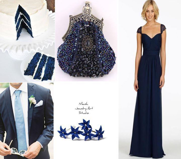 Свадьба - Navy Blue Wedding Wholesale cheap bridesmaid ...