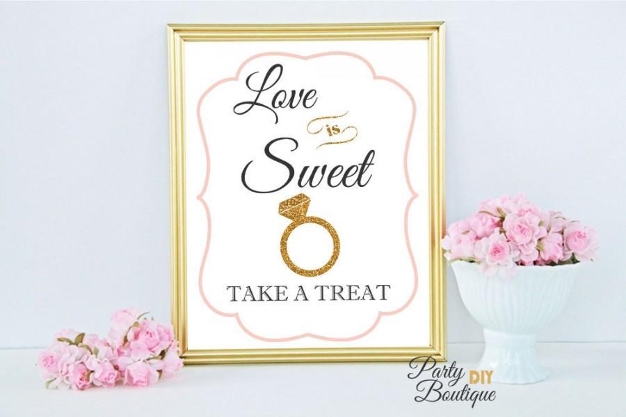 love is sweet take a treat sign bridal shower decoration printable dessert bar diy wedding glitter wedding jpg instant download