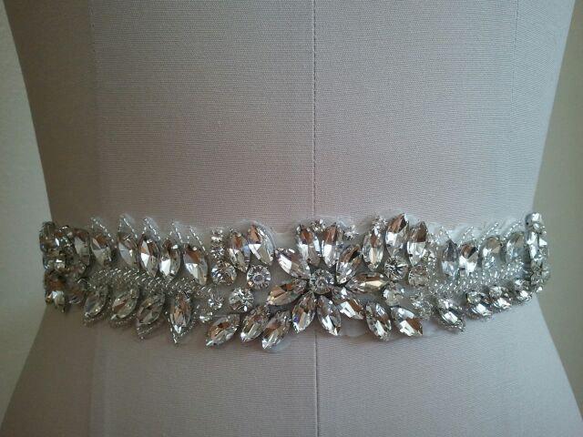 Mariage - Sale Wedding Belt, Bridal Belt, Sash Belt, Crystal Rhinestone - Style B30077
