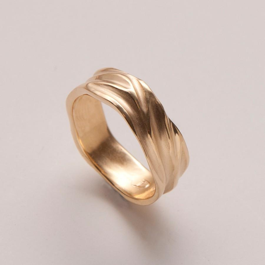 Свадьба - Dune No.2 - 14k Gold Ring , Wedding Ring , Unisex ring , Wedding Ring , Wedding Band , Men's Ring