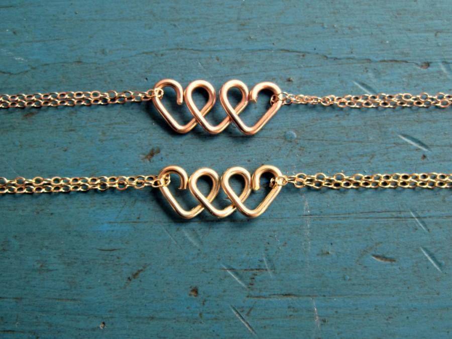 Hochzeit - Best Friend Gift Infinite Love Bracelet Sister Gift Mom Gift Rose Gold or Gold Bridesmaid Gift Best Friends Gift Bracelet