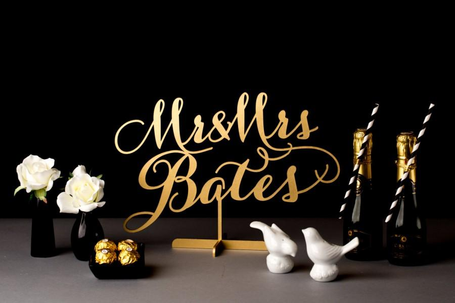 Mariage - Wedding Table Sign - Custom Last Name for sweetheart table - Soirée Collection
