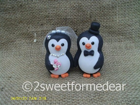 Dekor - Penguin Wedding Cake Toppers #2425249 - Weddbook