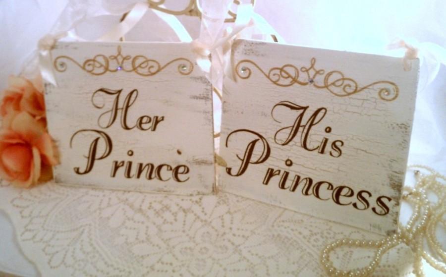 Wedding Chair Signs Crystals Fairytale Wedding Decor Cinderella