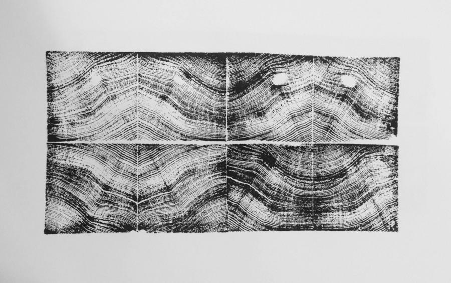 """Свадьба - Mirrored Redwood Grain 18x24"""""""