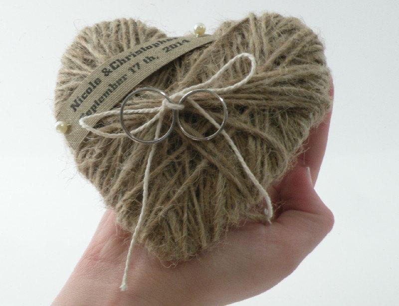 Ring Bearer Pillow Wedding Ring Pillow Heart Holder