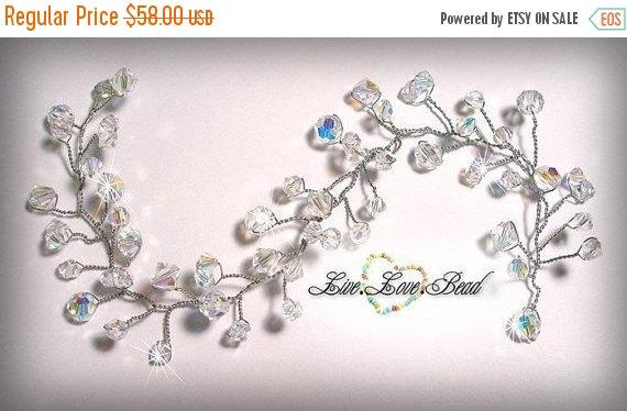Свадьба - 20% OFF SALE Swarovski Crystal Bridal Hair Vine