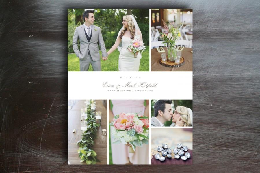 Wedding - Sale! 5x7 Photo Collage - Photographer Storyboard Design - Professional Photography Templates - d0006