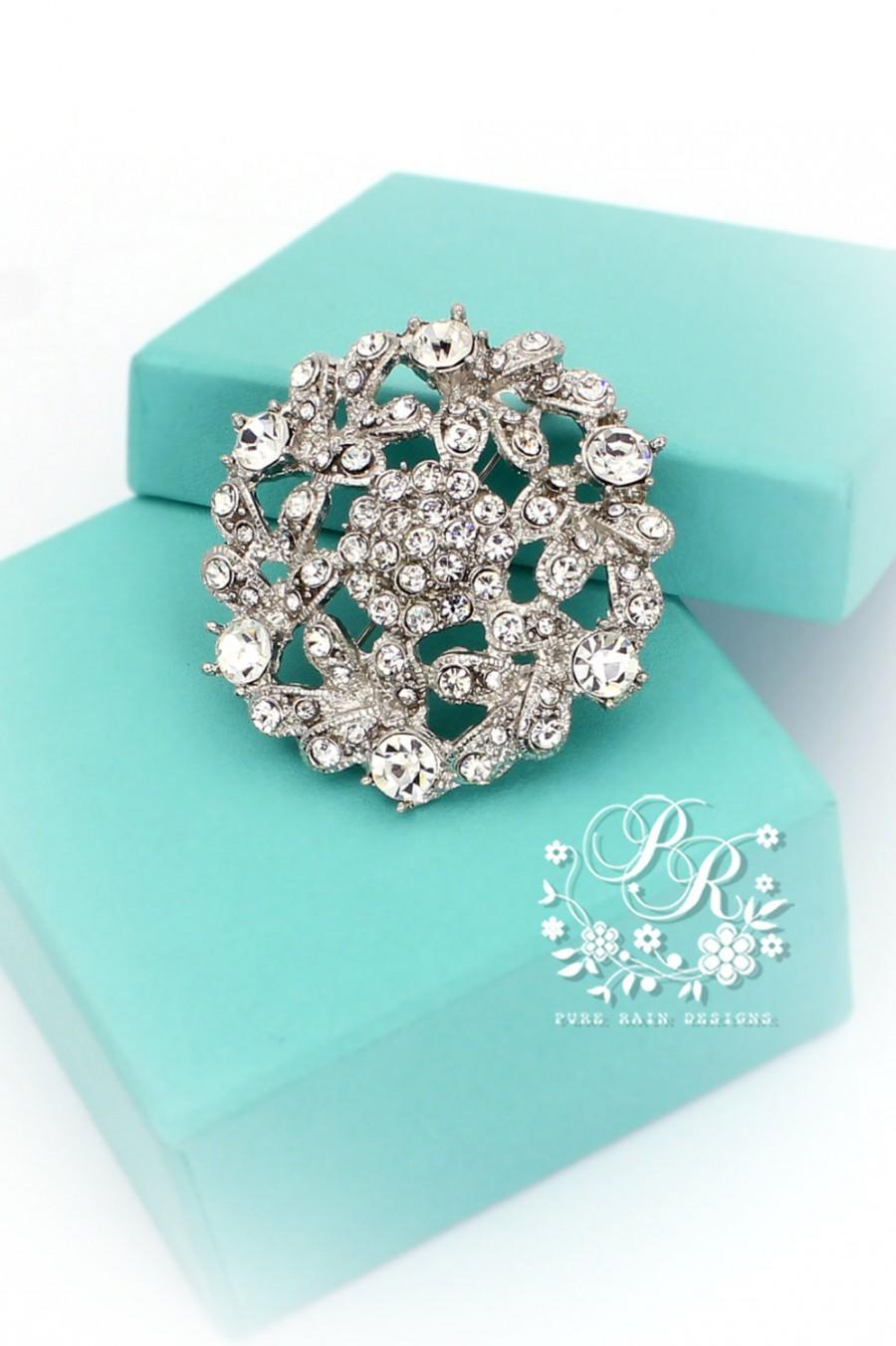 Wedding - wedding brooch Rhinestone Crystal brooch adornment Sash Applique Buckle Hair comb Clutch Bridal Jewelry