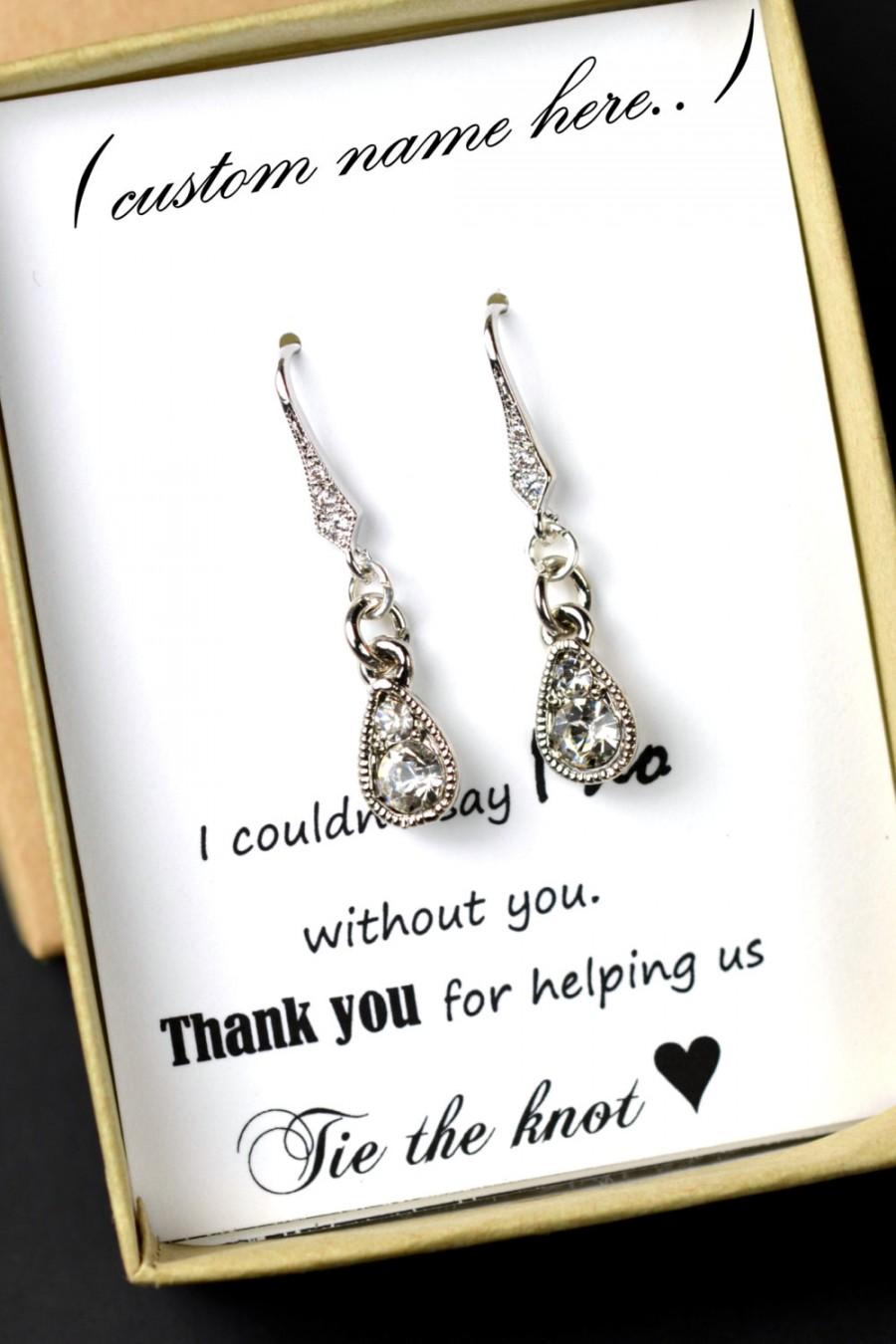 Appropriate Wedding Gift For Friends Daughter : Wedding - Wedding Jewelry Bridesmaid Gift Bridesmaid Jewelry Bridal ...