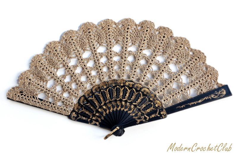 Hochzeit - Gold Lace Fan- Hand Held Fan- Handmade Lace Hand Fan- Folding Hand Fan- Spanish Wedding Fan- Bridal Fan- Wedding Prop- Christmas gift