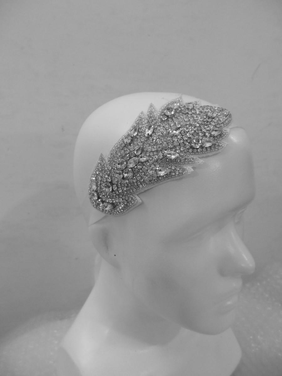 زفاف - Bridal Wedding Vintage Beaded Crystal Embellished headpiece headband / Wedding Headband