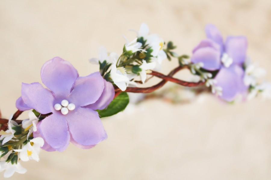 Mariage - bridal hair acessories, wedding headpiece, woodland flower, bridal hair flower, rustic wedding