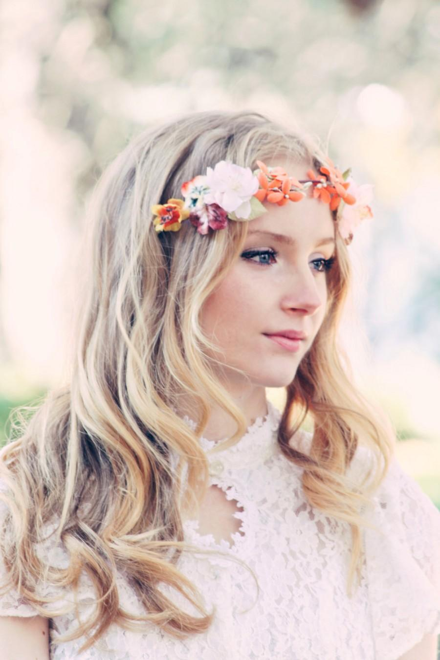 Свадьба - autumn wedding headband, woodland wedding, fall wedding, bridal hair crown
