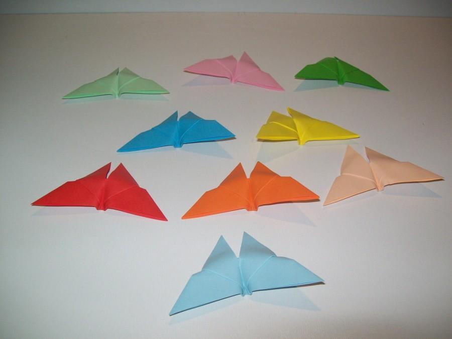 زفاف - 100 mini origami butterfly, wedding origami, wedding butterfly, multicolor butterfly, origami ornament for wedding, paper butterflies