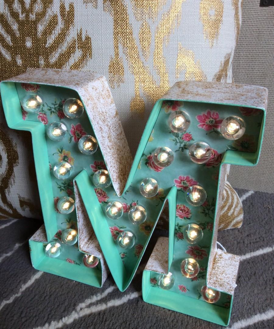 8 custom made light up marquee letter cake topper numbers heart marquee rustic wedding decor nursery decor bridal shower decor - Letter Decor