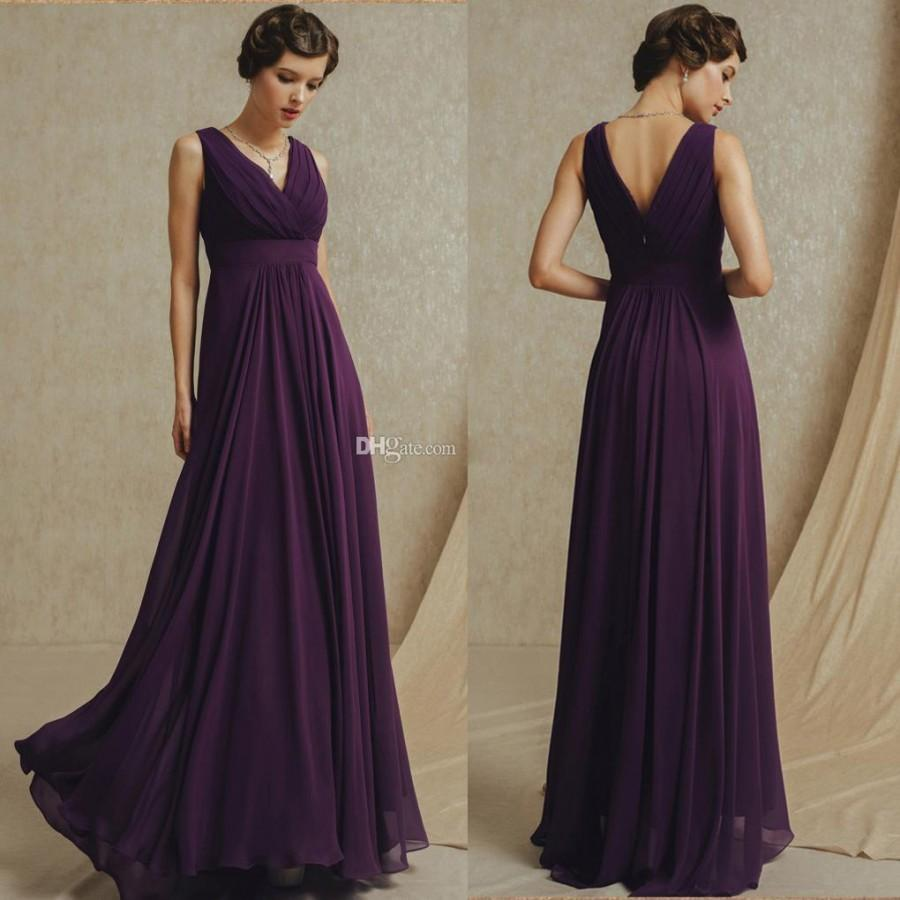 Mariage - 2015 Sexy Chiffon V-neck Bridesmaid Dress Sweetheart Prom Formal Pageant Wedding Bridal Evening Party Ball Gown Stock Dress Online with $82.25/Piece on Hjklp88's Store