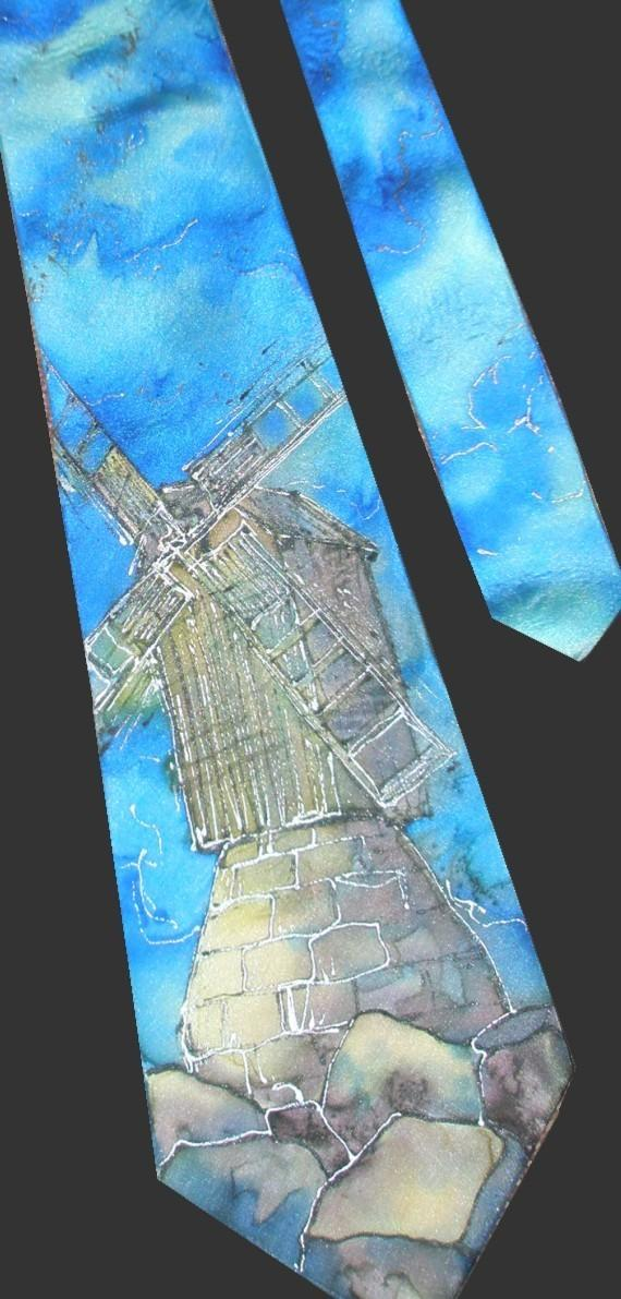 Свадьба - Custom hand painted silk neck tie created on request by Estonian artist. Gift for him, gift for boyfriend, gift for husband, gift for groom