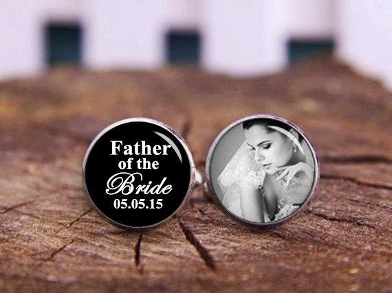 Wedding - custom date & name cufflinks, father of the bride cuff links, personalized cufflinks, Custom Wedding Cufflink, Groom Cufflinks, Wedding gift