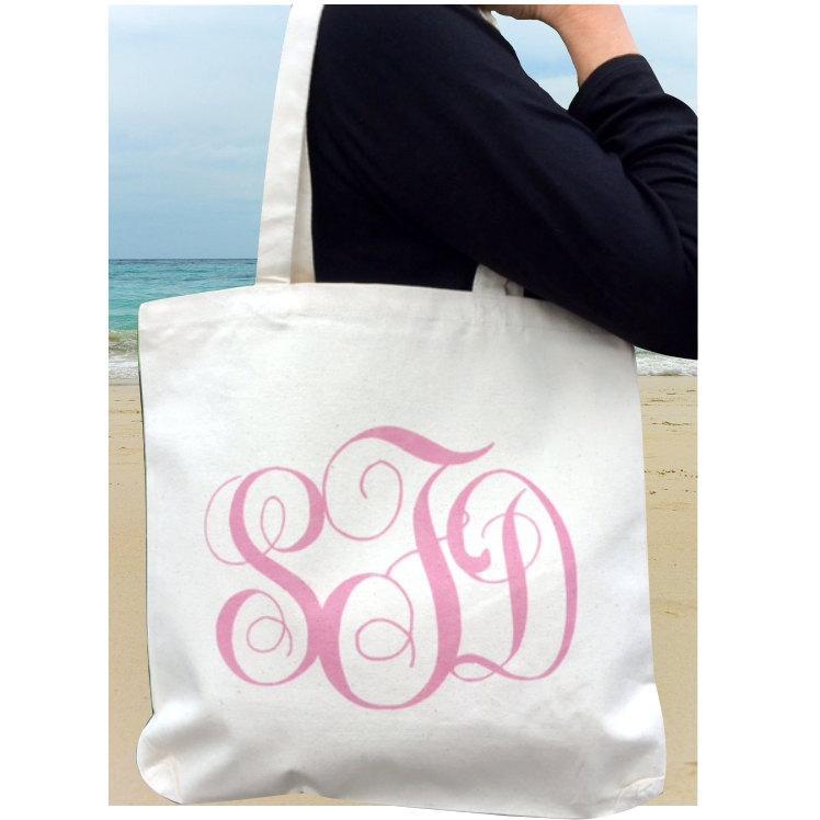 Mariage - Qty 5-Printed Monogram Tote Bag, Wedding Tote Bag, Bridesmaid Tote Bag, Bridesmaid Bag,Bridesmaid Gift, Wedding Party Gift, Wedding Bag