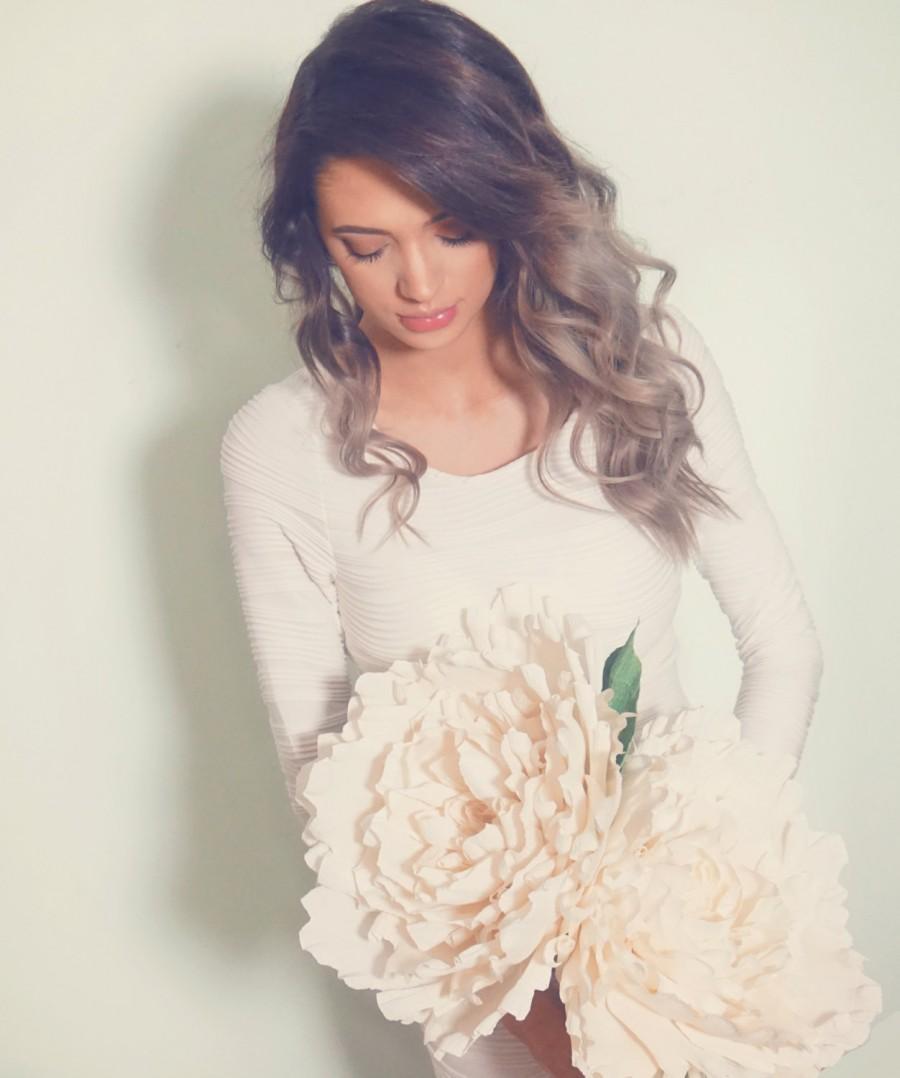 Свадьба - Double-Headed Crepe Flower Bouquet Bride Bridesmaid Chic Home Decor