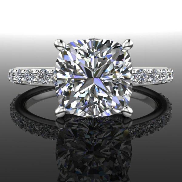 Mariage - Forever Brilliant Moissanite and Diamond Engagement 2.86 CTW