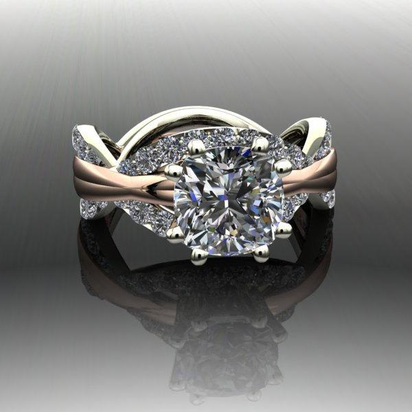 Mariage - Infinity Engagement Ring Forever Brilliant Moissanite and Diamonds 3.20 CTW