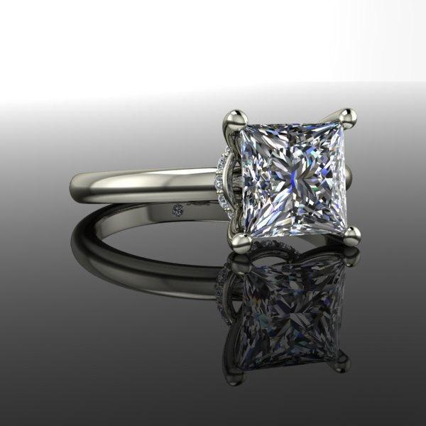Mariage - Princess Cut Diamond Solitaire Engagement Ring 1.58 CTW
