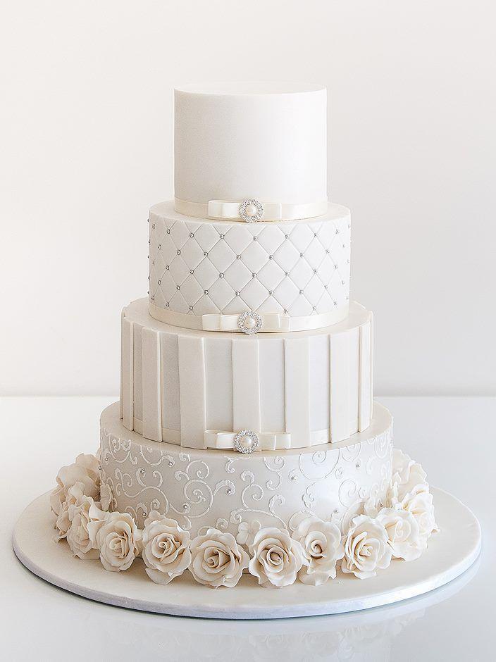 Cake 30 delicate white wedding cakes 2425865 weddbook 30 delicate white wedding cakes junglespirit Image collections