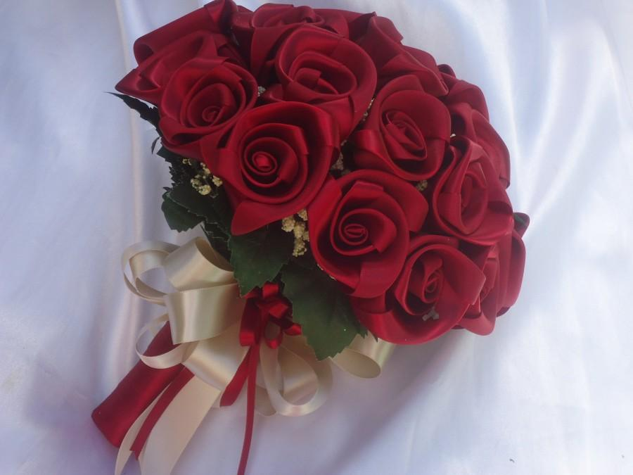 Свадьба - Handmade Wedding Bouquet Customized with handcrafted roses