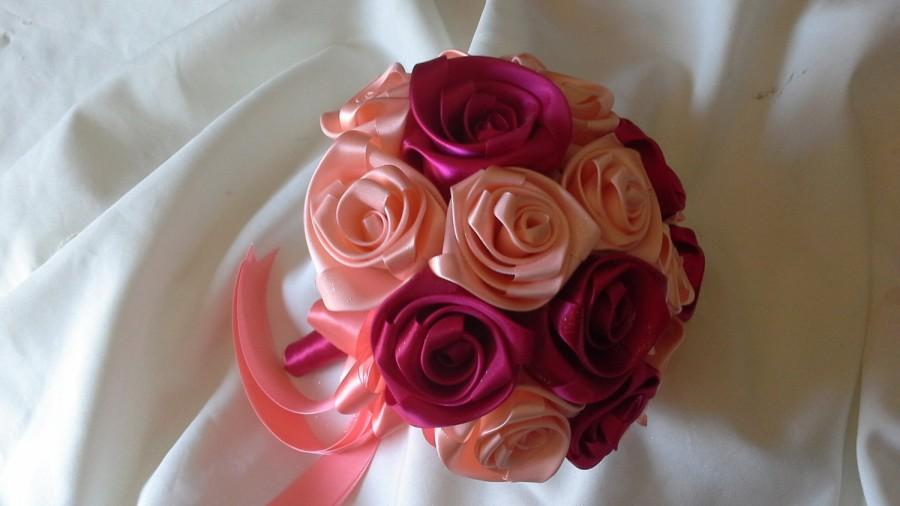 Свадьба - Wedding Handmade bouquet in satin ribbon