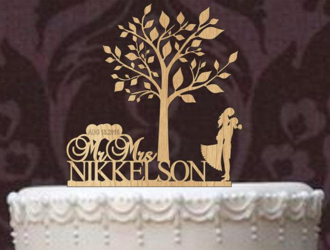 Mariage - Custom wedding cake topper - Rustic Wedding Cake Topper - Personalized wedding Cake Topper - bride and groom, silhouette cake topper,