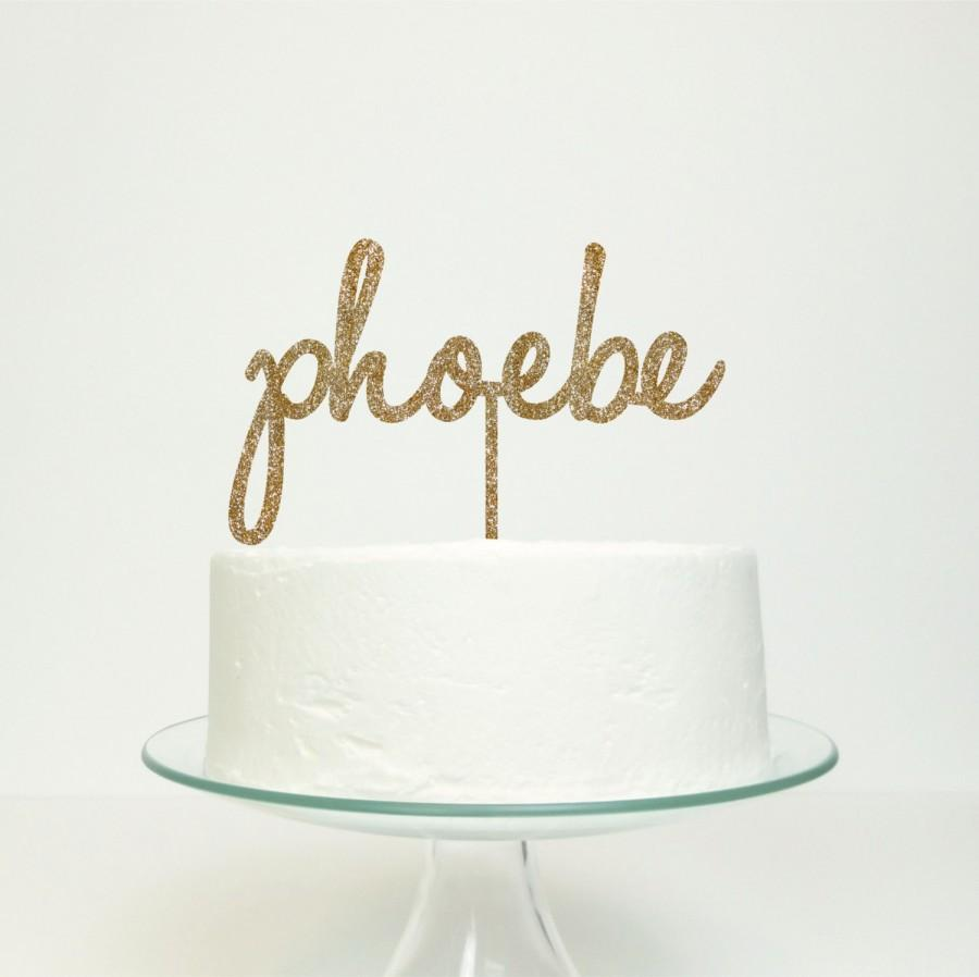 Mariage - Personalised Name Cake Topper - Birthday Celebration Party Cake Topper